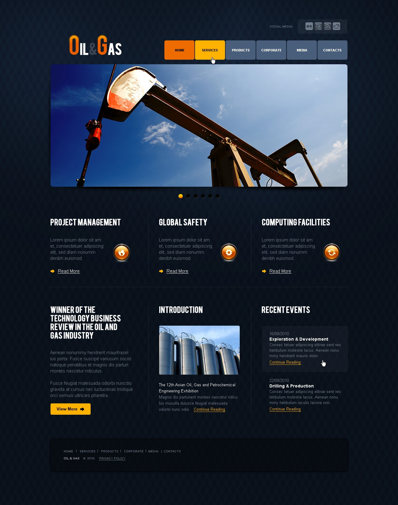 the global oil and gas industry 2010
