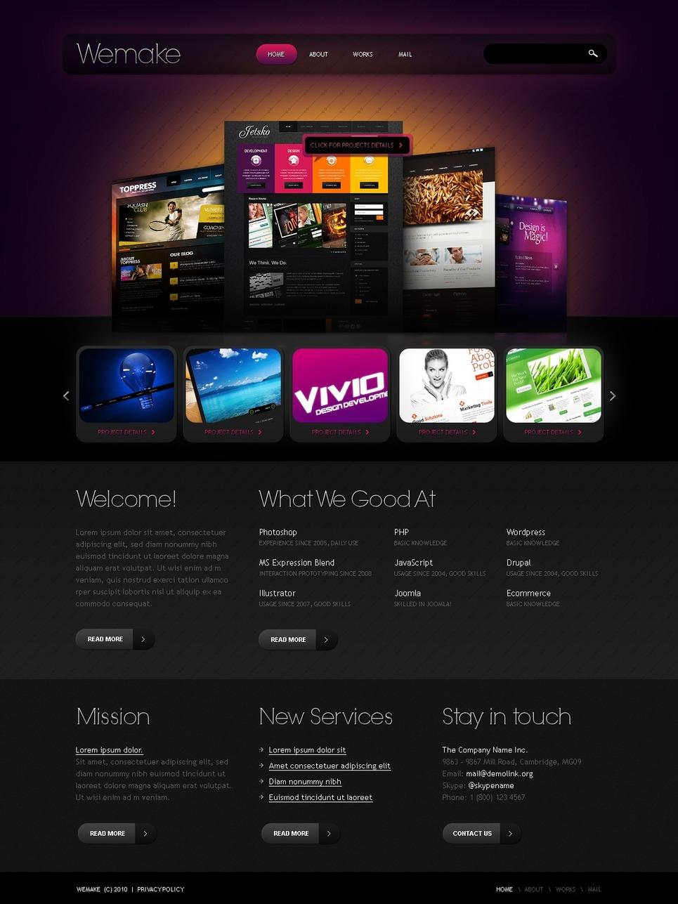 Tema siti web per un sito di web design for Siti web di home plan