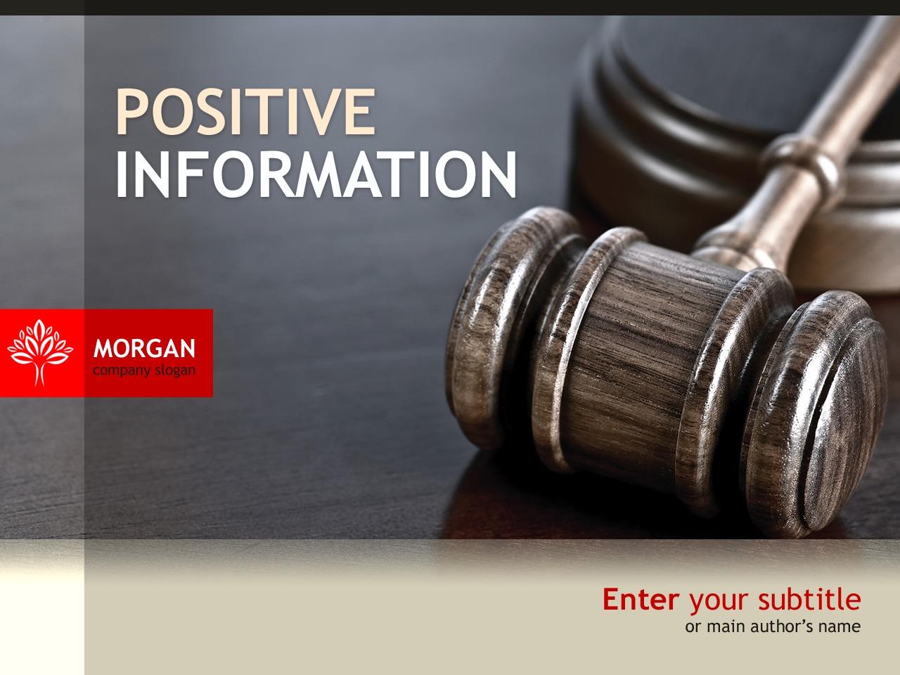 PowerPoint Template over Jurist №32099 - screenshot