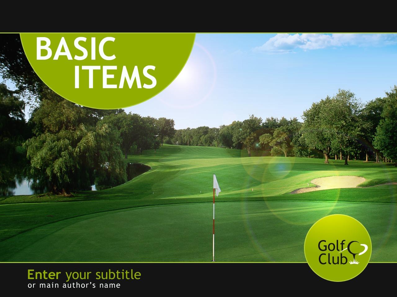 Szablon PowerPoint #32097 na temat: golf