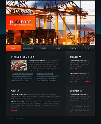 SWiSH Template 32182 Main Page Screenshot