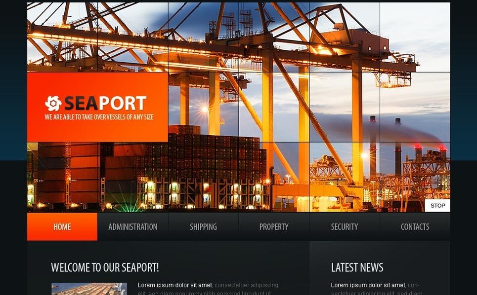 Template SWiSH para Sites de Templates Marítimos №32182 New Screenshots BIG