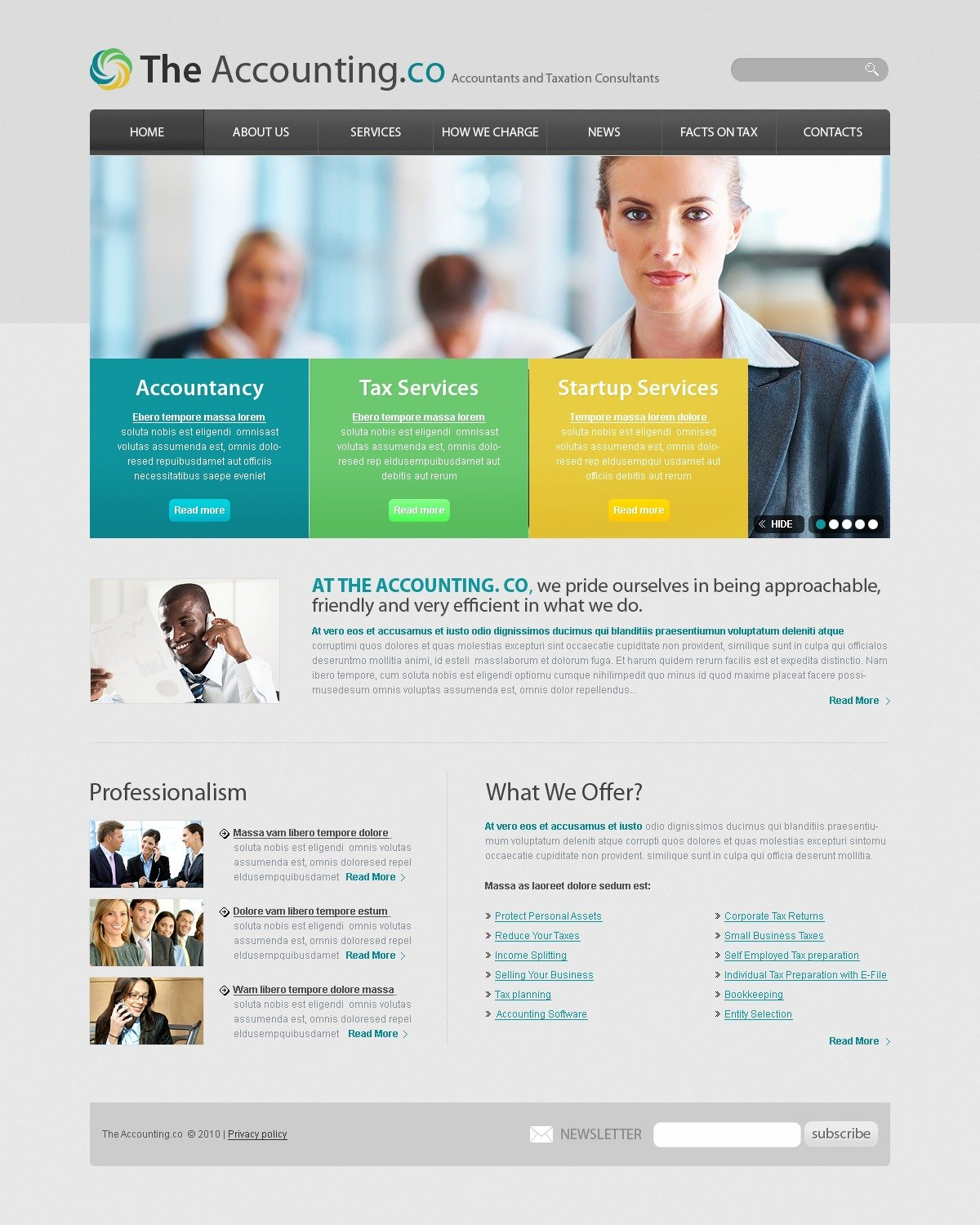 Accounting Website Website Template - Tax website templates