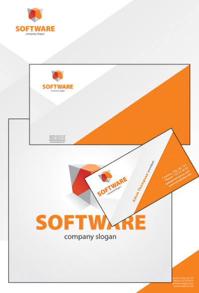 Software Company Corporate Identity Template #32173