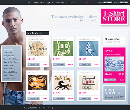 osCommerce Template 32209 Main Page Screenshot