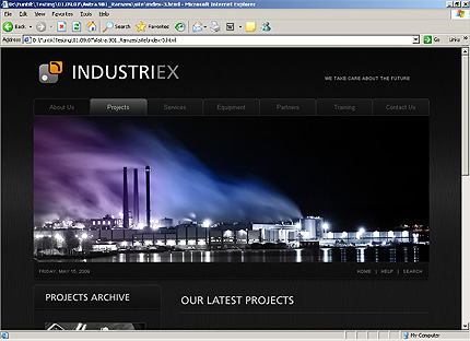 Template 32238 ( Main Page Page ) HTML Screenshot