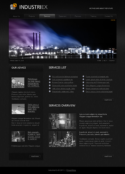 Template 32238 ( Projects Page ) ADOBE Photoshop Screenshot