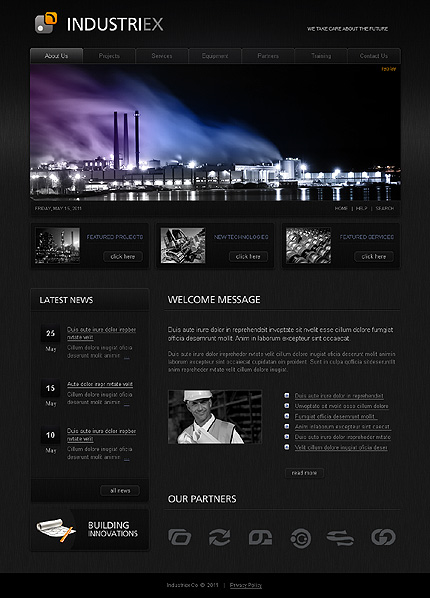 SWiSH Template 32238 Main Page Screenshot
