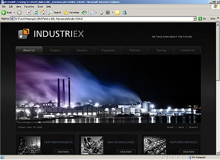 HTML Template 32238 Home Page Screenshot