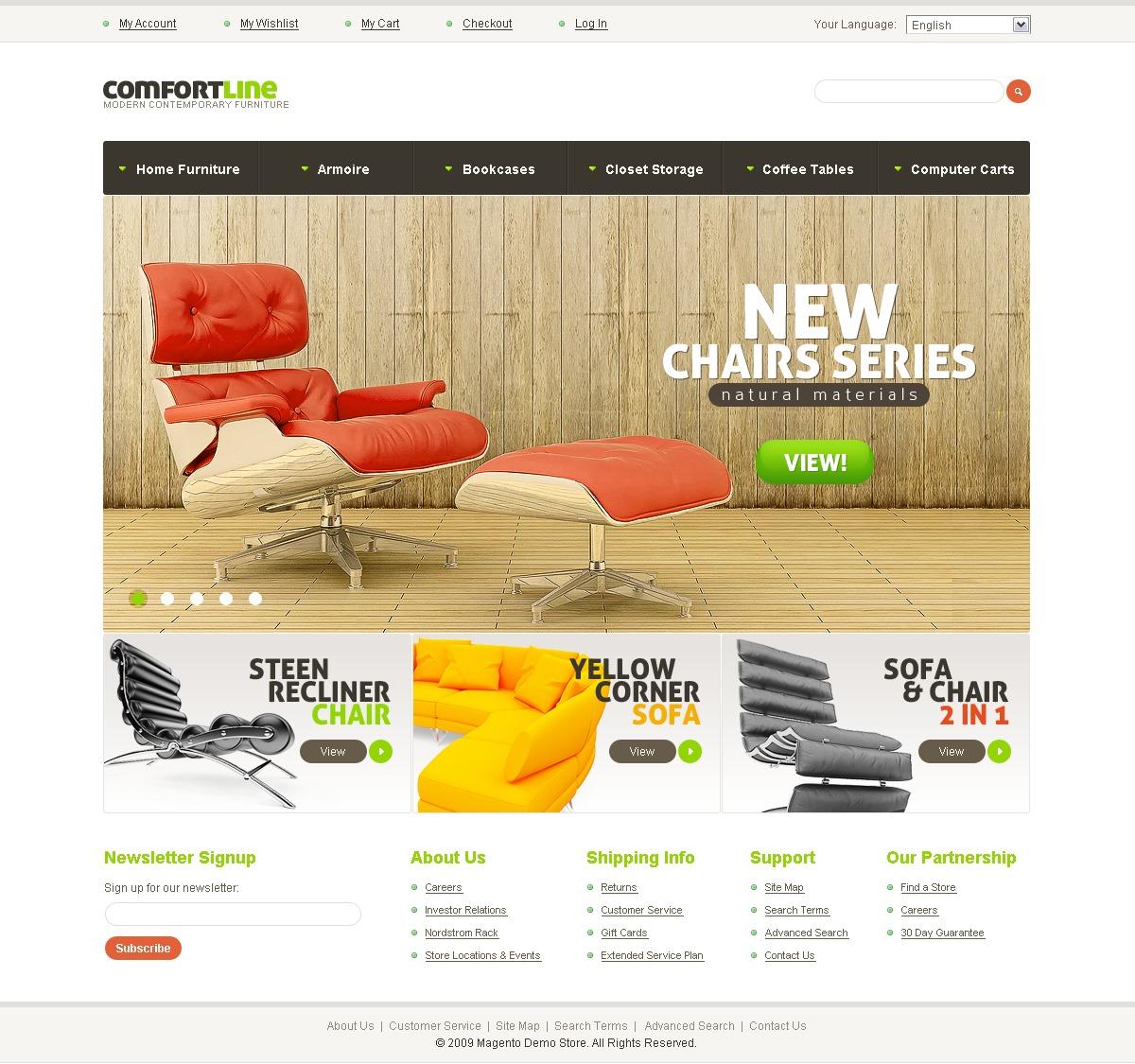 Tema Magento #32286 para Sitio de Muebles - captura de pantalla