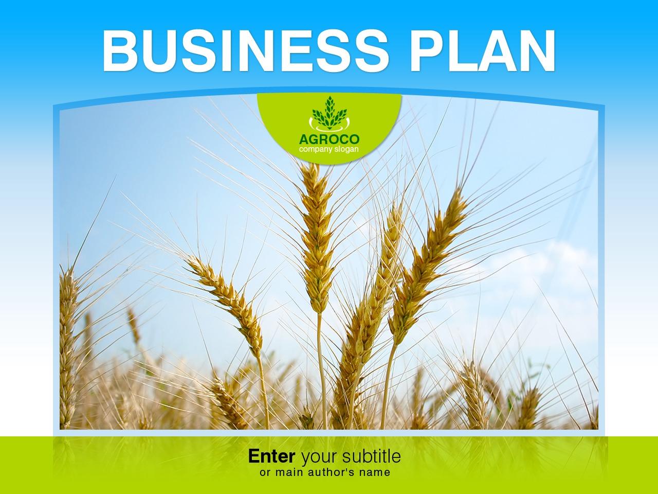 Template PowerPoint #32293 per Un Sito di Agricoltura