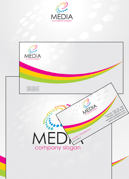 Media Corporate Identity Template Vector Corporate Identity preview