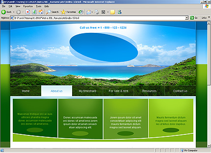 Template 32314 ( About Us Page ) HTML Screenshot