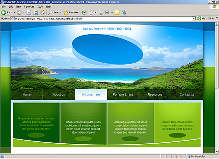 Template 32314 ( My Timeshare Page ) HTML Screenshot