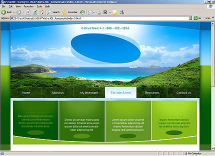 Template 32314 ( For Sale & Rent Page ) HTML Screenshot