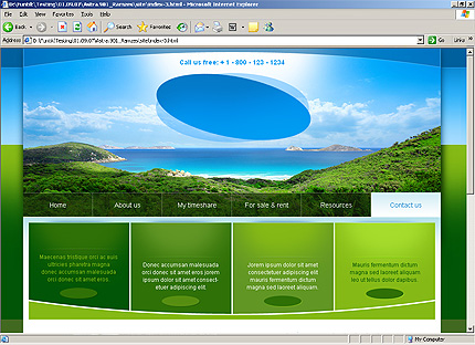 Template 32314 ( Contact Us Page ) HTML Screenshot