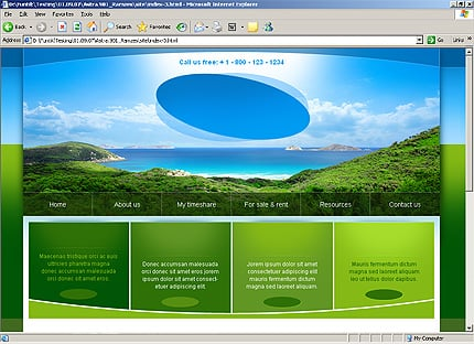 Template 32314 ( Privacy Policy Page ) HTML Screenshot