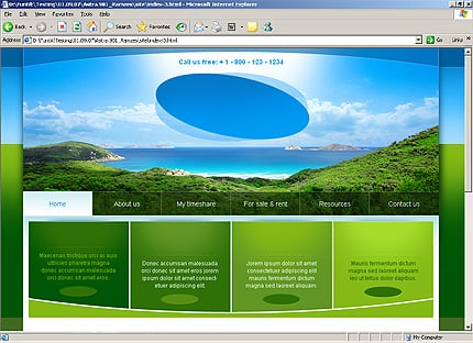 HTML Template 32314 Home Page Screenshot