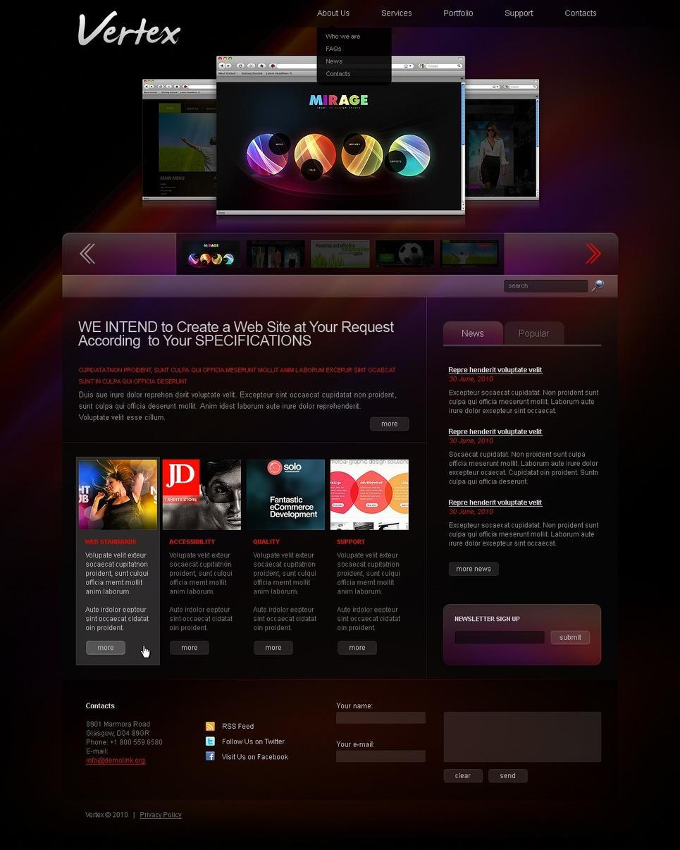 Tema joomla per un sito di design studio for Sito di design