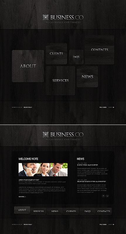 SWiSH Template 32401 Main Page Screenshot