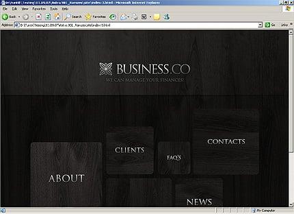 HTML Template 32401 Home Page Screenshot