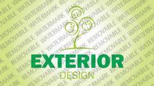 Exterior design site logos for Exterior design templates
