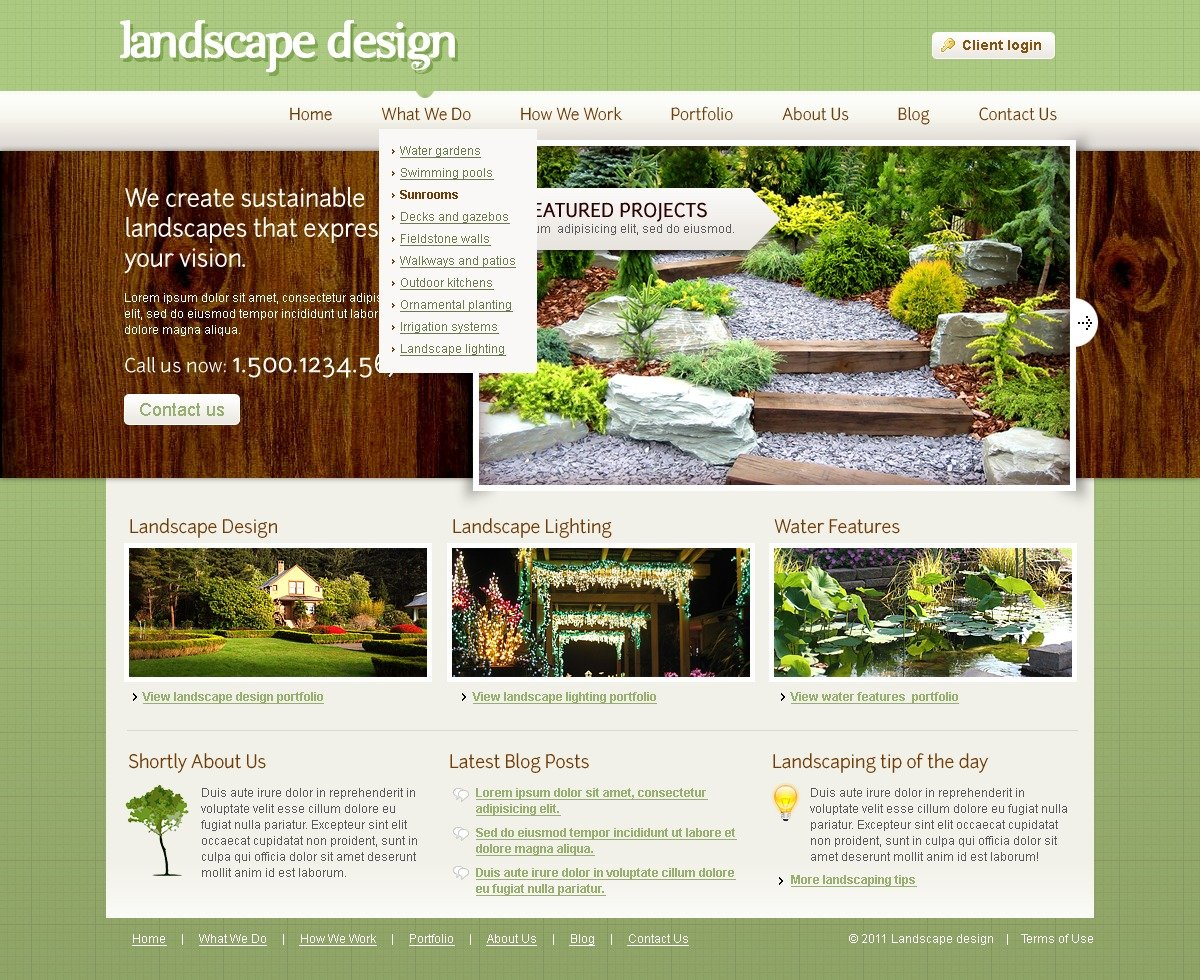 landscape-design-joomla-template_32408-original Template Admin Panel Php on shopping cart using, home page coding, login registartion page, software for, softphone interface,