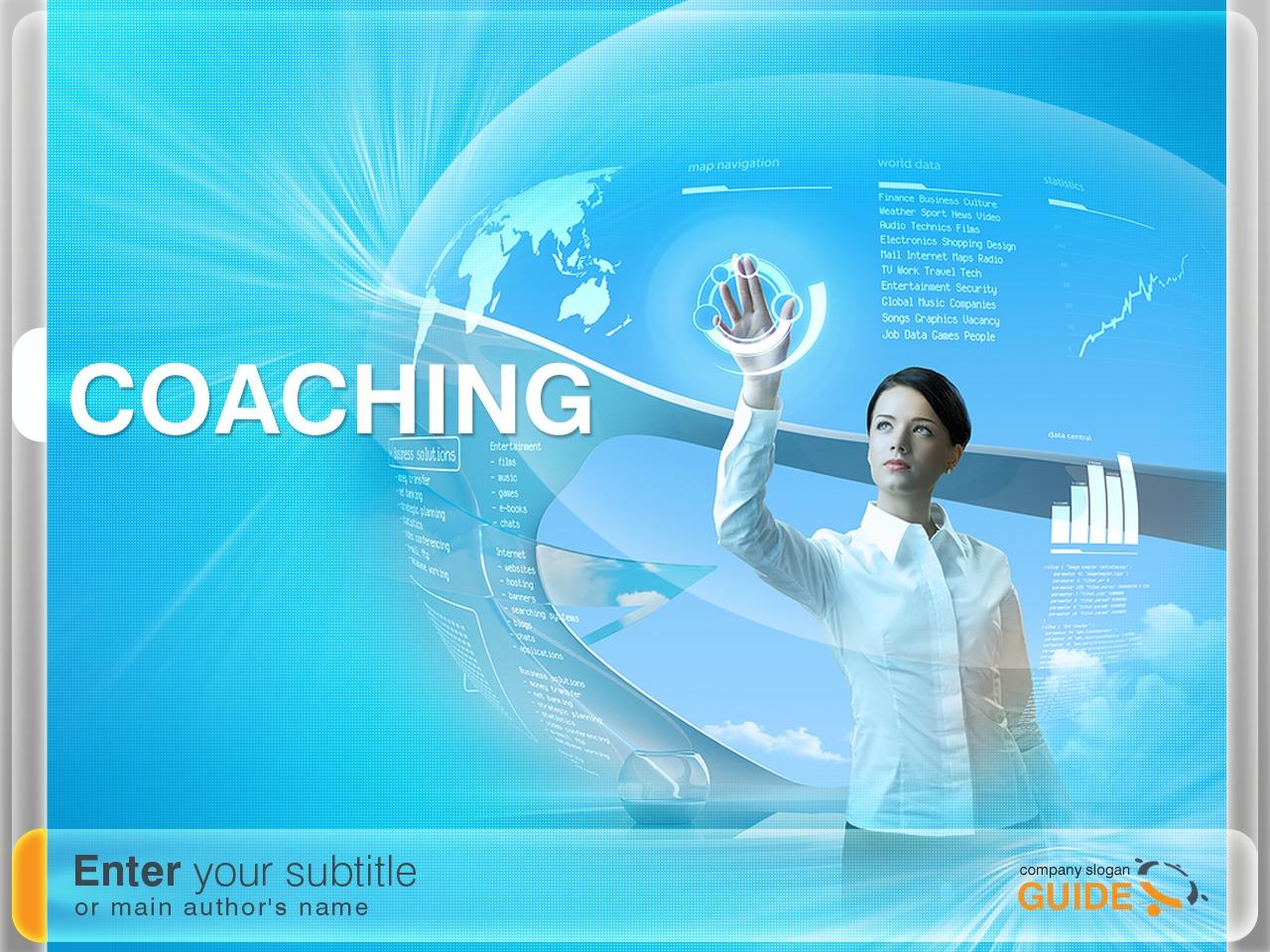 PowerPointmall för handelshögskola #32498