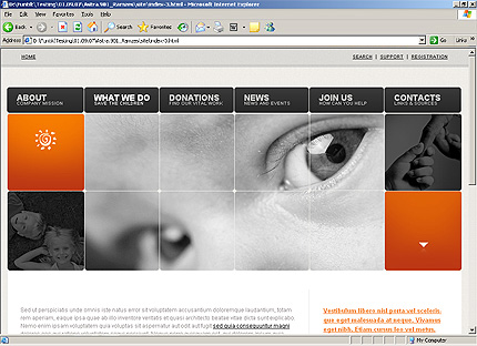Template 32558 ( What we do Page ) HTML Screenshot