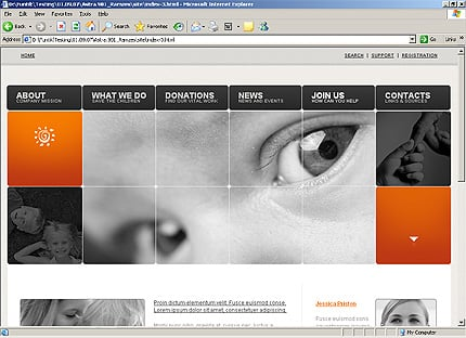 Template 32558 ( Join Us Page ) HTML Screenshot