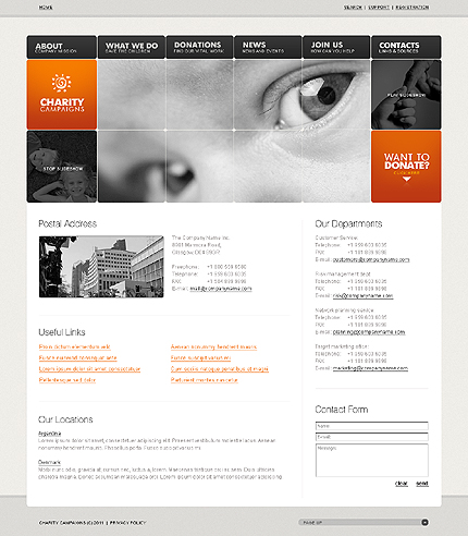 Template 32558 ( Contacts Page ) ADOBE Photoshop Screenshot