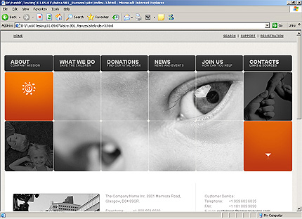 Template 32558 ( Contacts Page ) HTML Screenshot