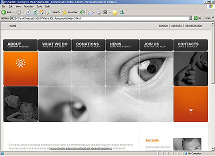 HTML Template 32558 Home Page Screenshot