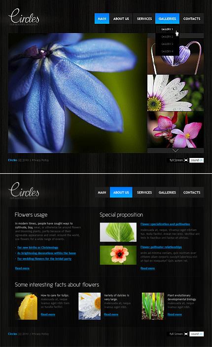 Circles Bouquet Flash CMS Template at YouNeedTemplates.com