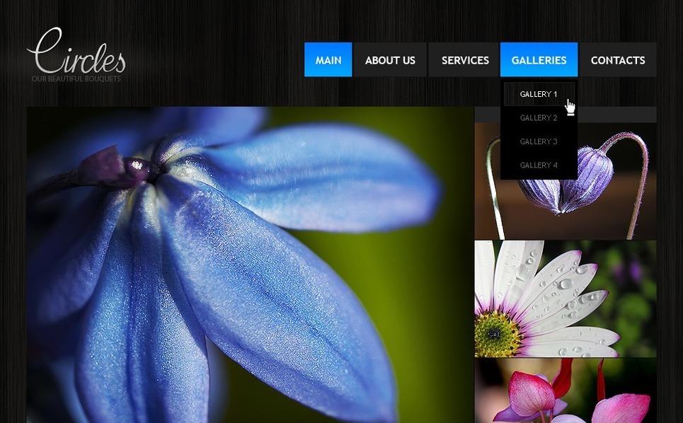 Szablon Flash CMS #32560 na temat: kwiaty New Screenshots BIG
