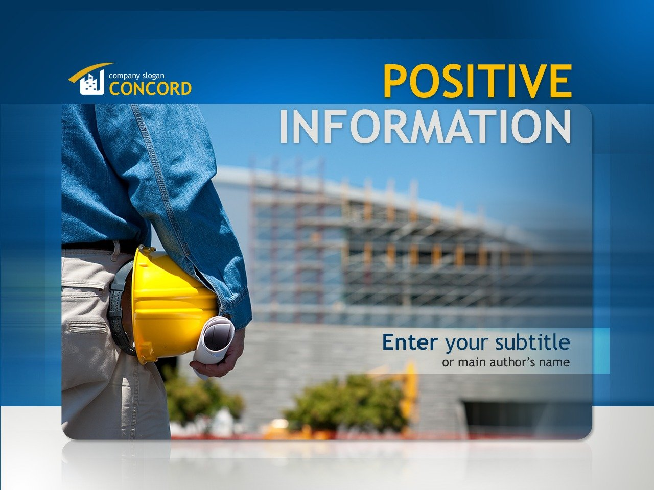 Construction Company PowerPoint Template #32591