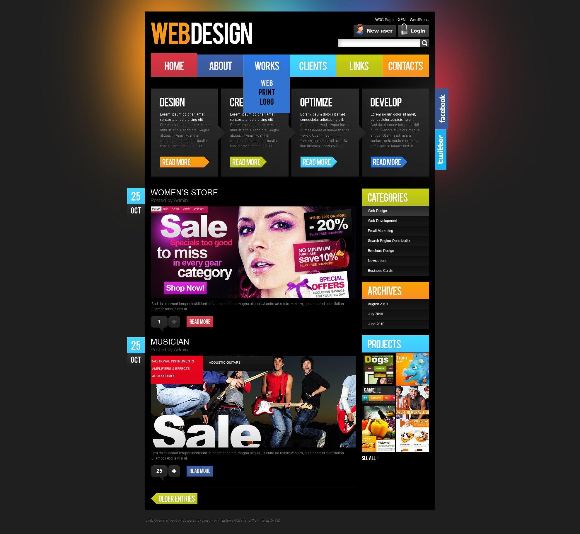 Web Design WordPress Theme - screenshot