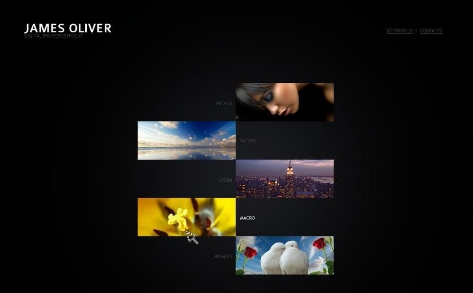Template de Galeria de Fotos para Sites de Portfólio de Fotografo №32617 New Screenshots BIG