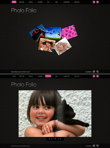 ADOBE Photoshop Template 32623 Home Page Screenshot