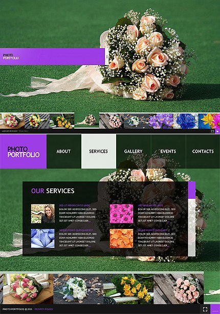 ADOBE Photoshop Template 32624 Home Page Screenshot