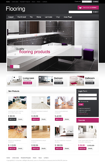 ADOBE Photoshop Template 32638 Home Page Screenshot