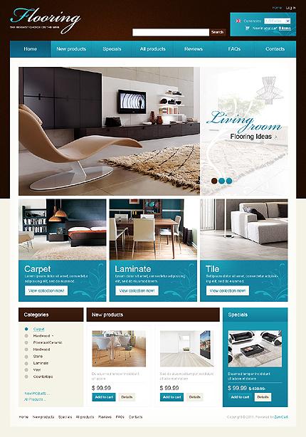 ZenCart Template 32641 Main Page Screenshot