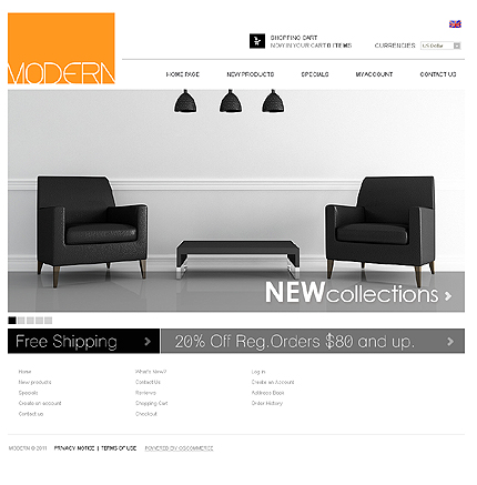 osCommerce Template 32644 Main Page Screenshot