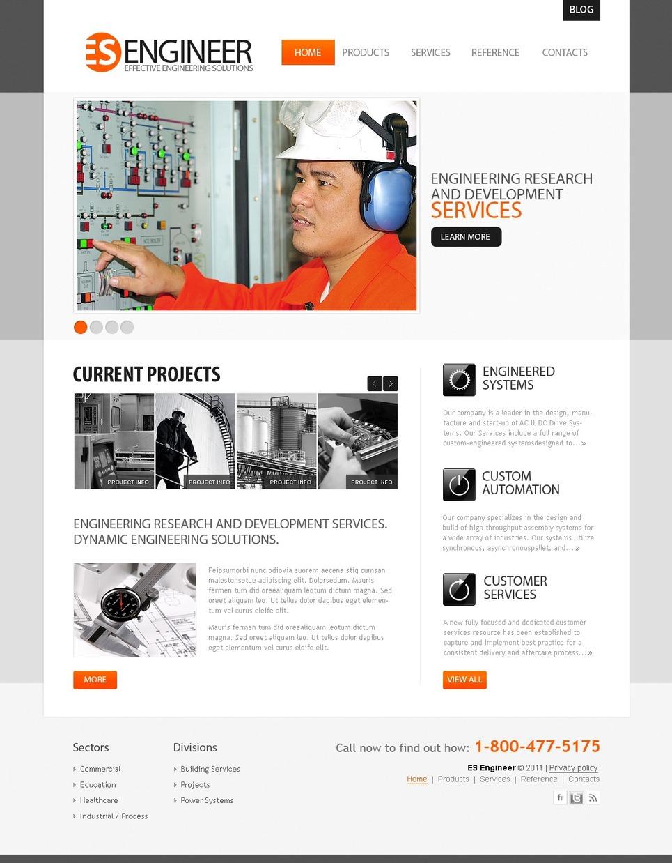 Modello siti web per un sito di industria for Siti web di costruzione domestica