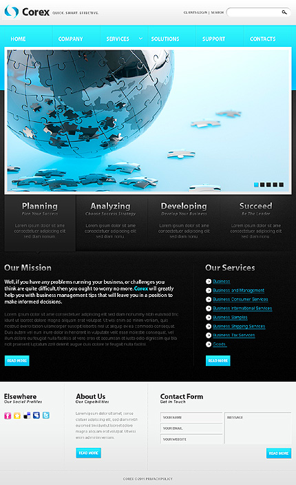Drupal Template 32668 Main Page Screenshot