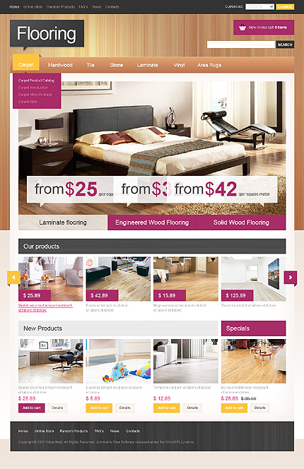 ADOBE Photoshop Template 32695 Home Page Screenshot