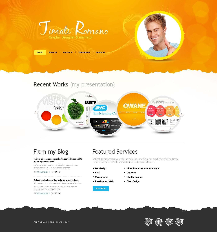 designer portfolio website template 32657. Black Bedroom Furniture Sets. Home Design Ideas