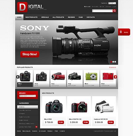 ZenCart Template 32721 Main Page Screenshot