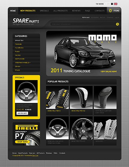 ZenCart Template 32722 Main Page Screenshot