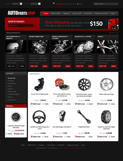 osCommerce Template 32735 Main Page Screenshot